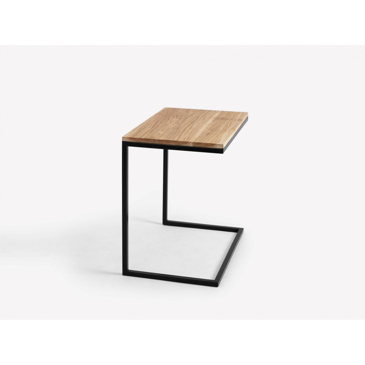 Side Table Lupe 60 cm | Oak/Black