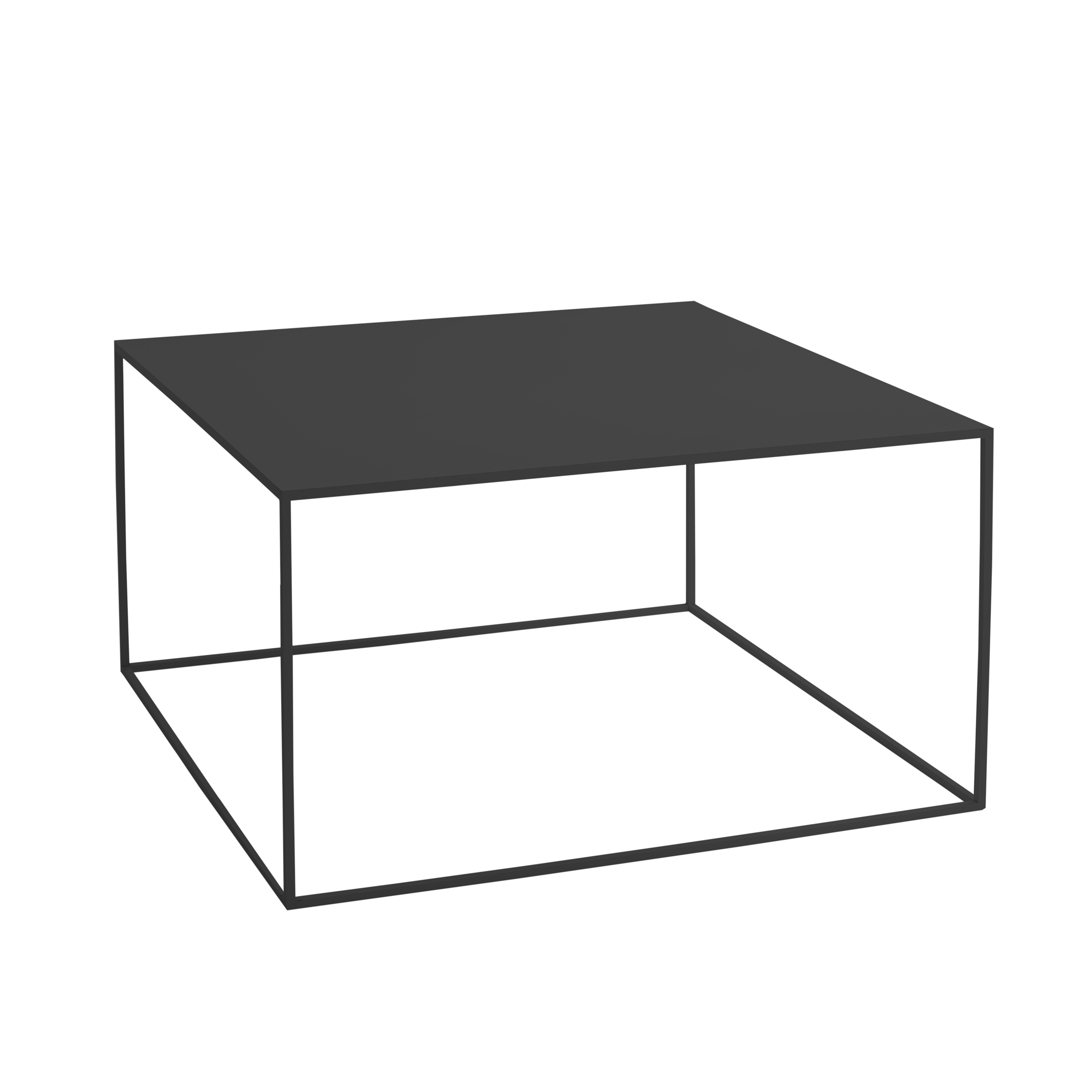 Coffee Table Tensio Metal 80 x 80 cm | Black