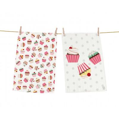 Geschirrtücher Leckere Cupcakes 2er-Set