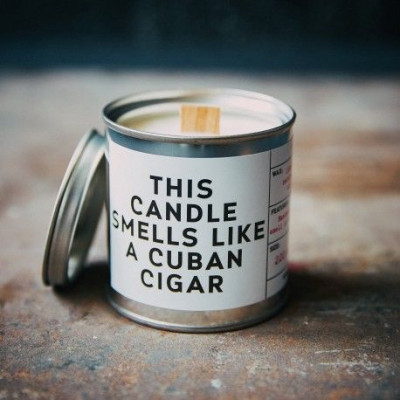 Scented Candle Can   Cuban Cigar