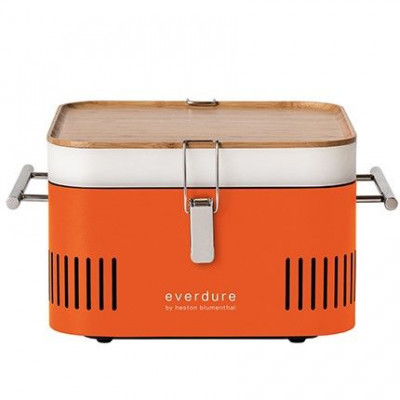 Würfel-Holzkohlegrill | Orange