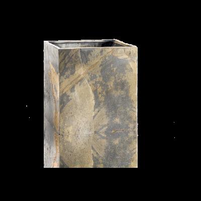 Pflanzgefäß aus Schiefer | Cubi 40 | Rostig