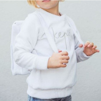 Cuddles and Kisses Sweater   Keppe White