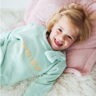 Cuddles and Kisses Sweater   Treze Mintgreen with Bow