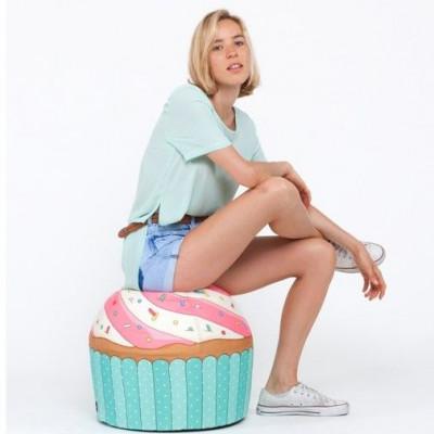 Pouf Cupcake Blue