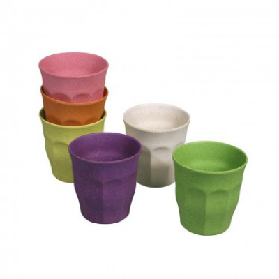 Tassen Tasse voller Farbe M 6er-Set | Regenbogen