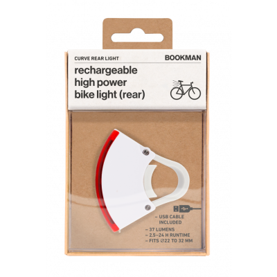 Fahrradlicht  Wiederaufladbar Hinten Curve   Weiß