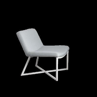 Sessel Zero | Hellblau & Weiße Beine