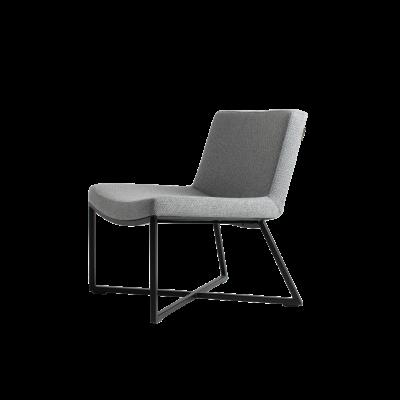 Sessel Zero | Silbergrau & Schwarze Beine