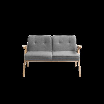 2-Sitzer-Sofa Vinc   Silbergrau