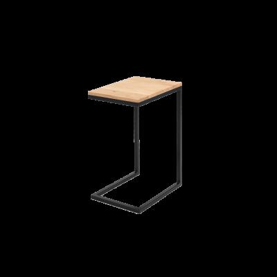 Beistelltisch Lupe 30 cm | Eiche/Schwarz