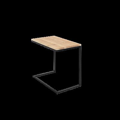Beistelltisch Lupe 60 cm | Eiche/Schwarz