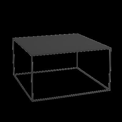 Couchtisch Tensio Metall 80 x 80 cm | Schwarz