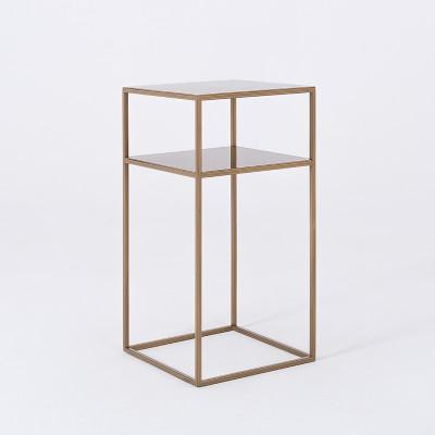 Couchtisch Tensio 2 Metall 30 x 30 cm | Gold