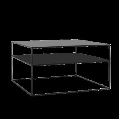Couchtisch Tensio 2 Metall 80 x 80 cm | Schwarz