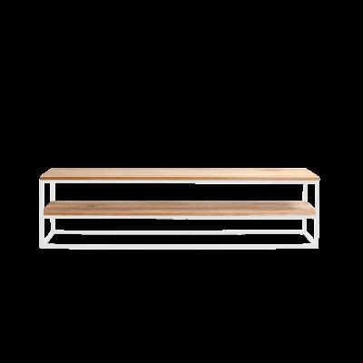Rack Julita 180 cm 2 Shelves | Oak/White