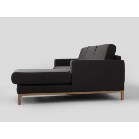 2 Seater Sofa Right Corner Scandic | Carbon Grey