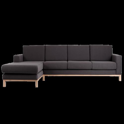 3 Seater Sofa Left Corner Scandic   Carbon Grey