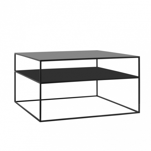 Coffee Table Tensio 2 Metal 80 x 80 cm | Black
