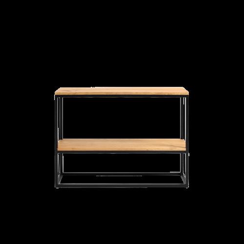 Regal Julita 75 cm 2 Einlegeböden | Eiche/Schwarz
