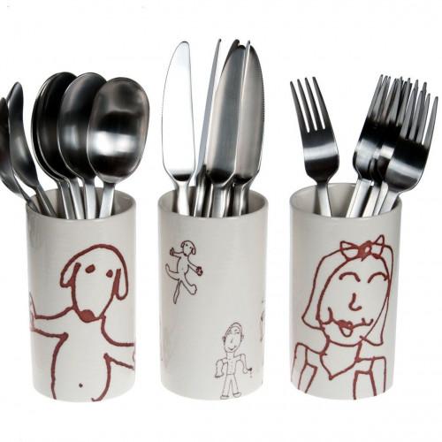 A set of Cutlery Vases Ulrike