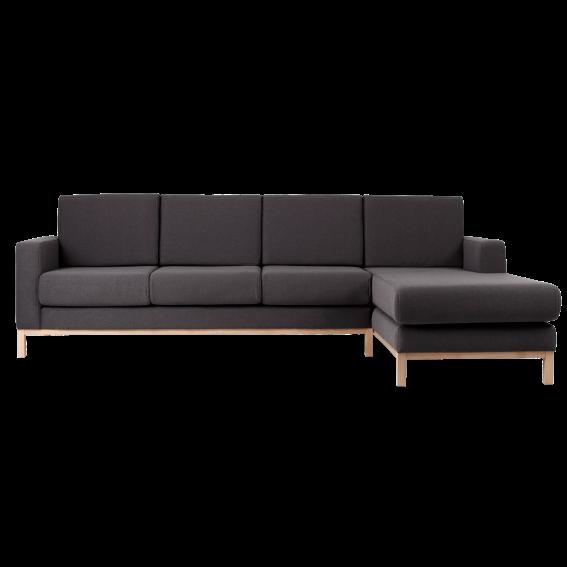 3-Sitzer-Sofa Rechte Ecke Scandic | Carbon Grau