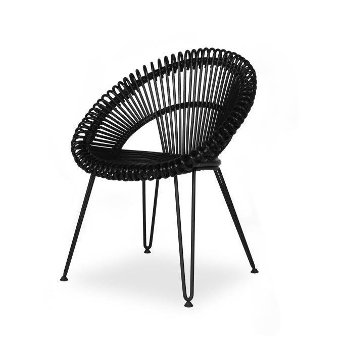 Chair Curly   Black