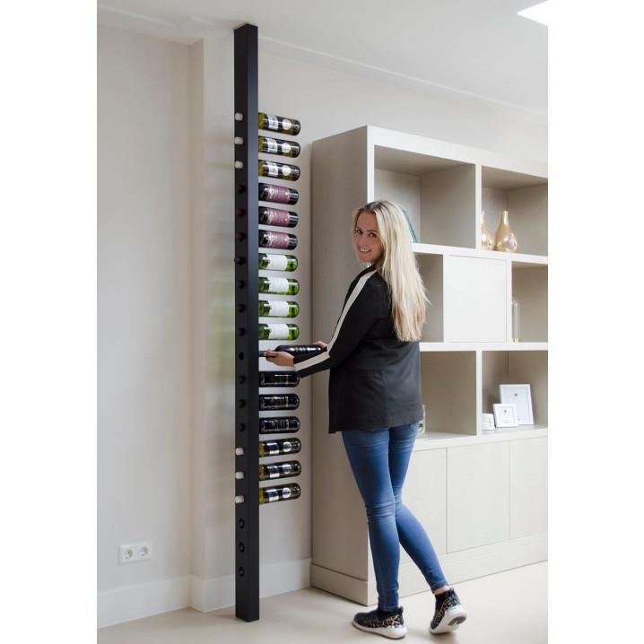 Wine Rack Wijnpaal | Custom | Black