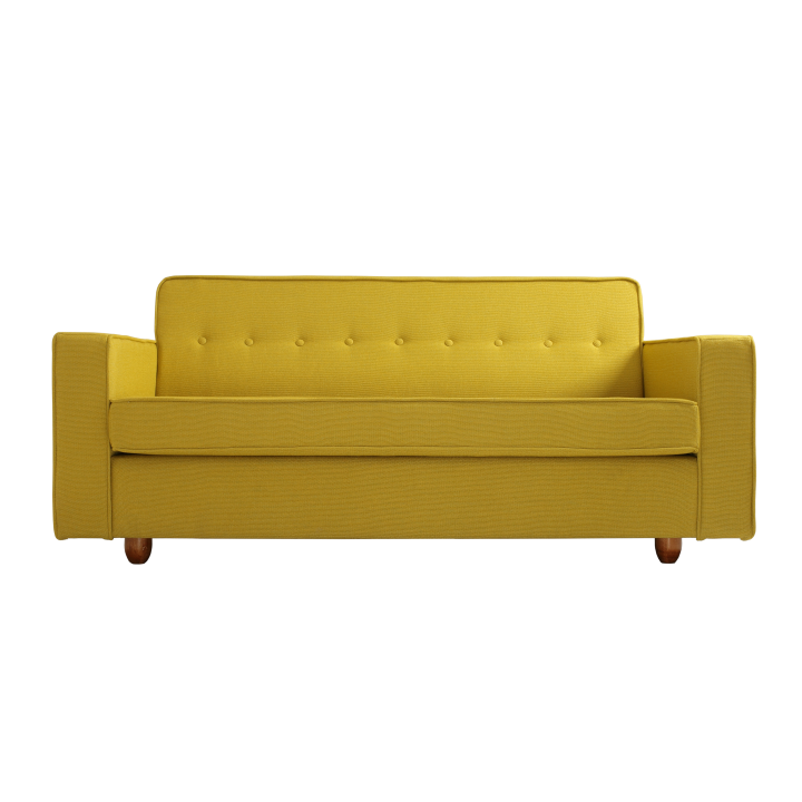 2 Seater Sofa Zugo   Turmeric