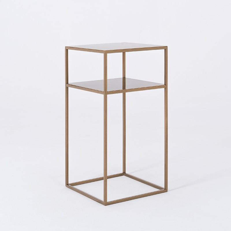 Coffee Table Tensio 2 Metal 30 x 30 cm | Gold