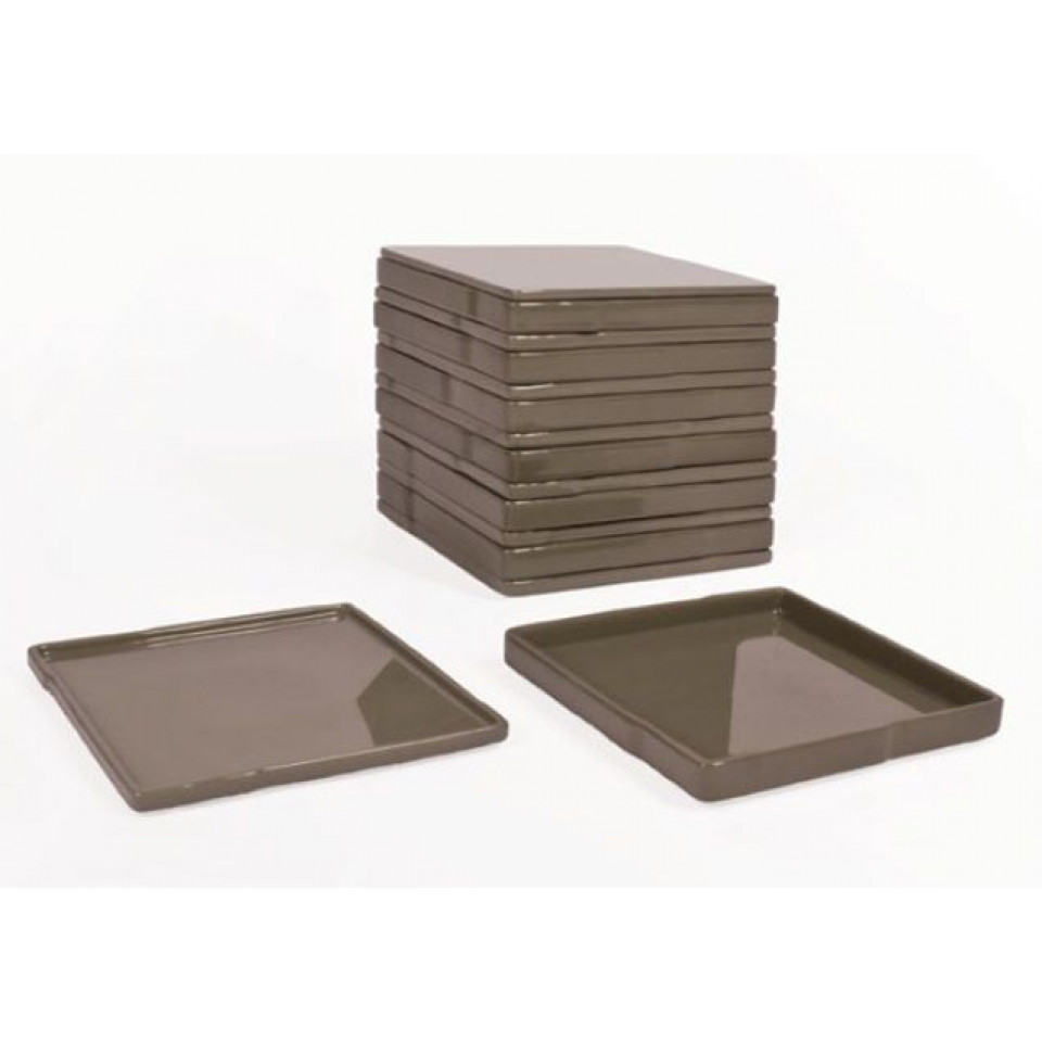 Cube set of dishes Stone Taupe/Grey