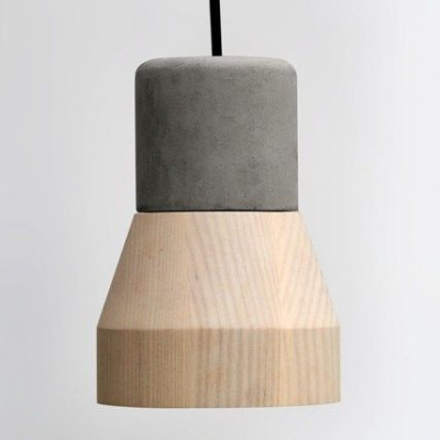 Cement Wood Lamp B