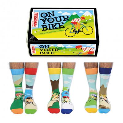 Socken auf dem Fahrrad   6er-Satz