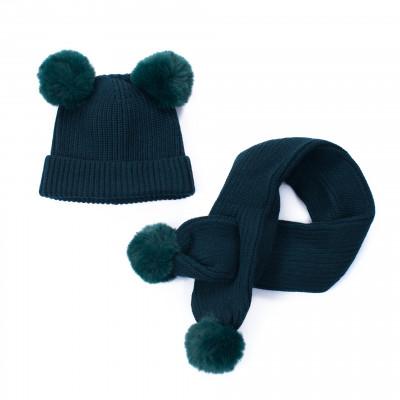 Mütze und Schal Kids | Grün