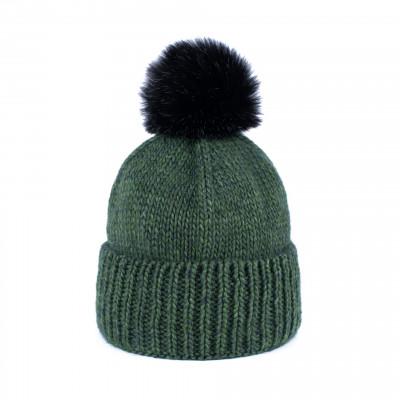 Mütze mit Pompom | Grün