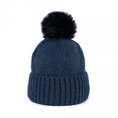 Mütze mit Pompom | Blau
