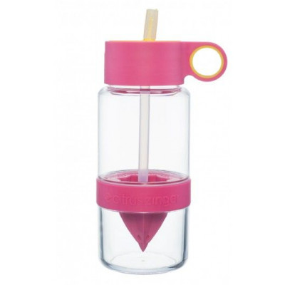 Trinkflasche mit Infusor Citrus Zinger Mini | Pink