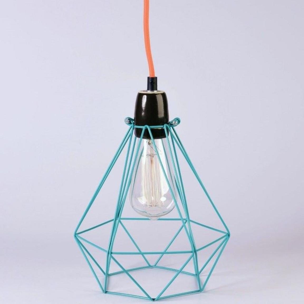 Diamant #1 | Käfigblau Kabel Orange