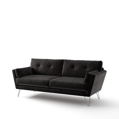 3-Sitzer-Sofa Tido   Schwarz