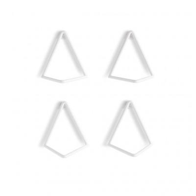 Wall Shelf (4 units) D12 | White