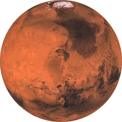 Runde Fototapete Mars | Mehrfarbig