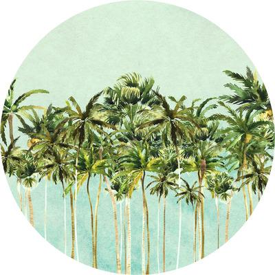 Runde Fototapete Coconut Trees | Mehrfarbig
