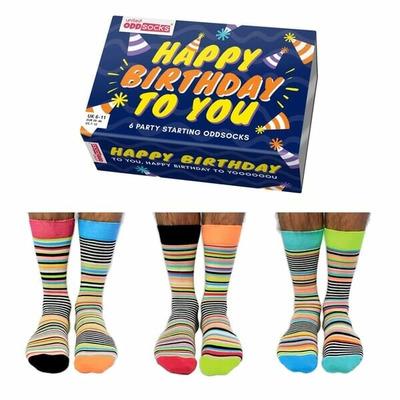 Herren Geschenkbox 6er Pack Socken BDAY   39-46