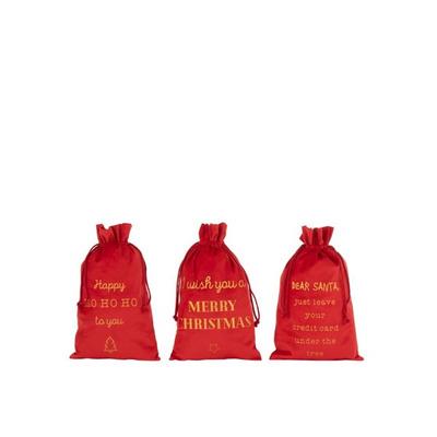 3 er Set Taschen Christmas English | Rot
