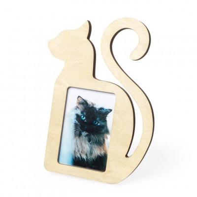 Bilderrahmen Katze   Holz