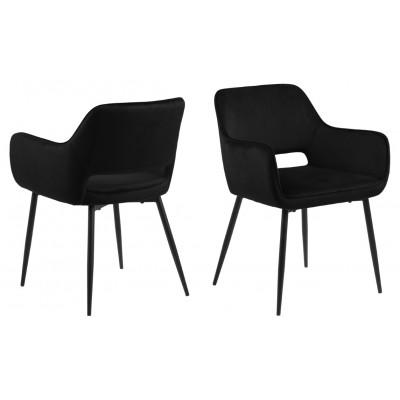 Set de 2 Chaises Banja | Noir