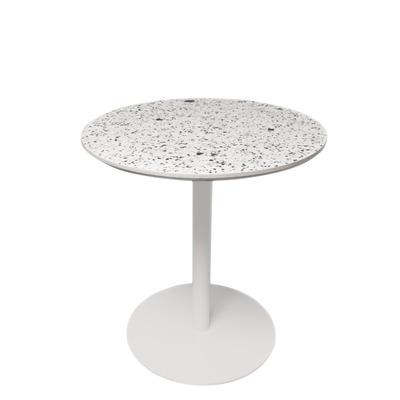 Runder Tisch Terrazzo Large | Weiß