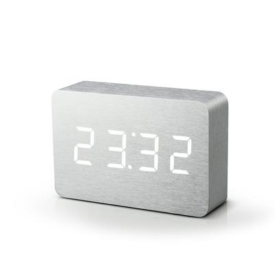 Brick Klick-Uhr   Aluminium und Weiße LED