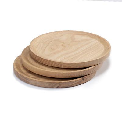 3-er Set Teller Circle Best   Kaltes Eschenholz