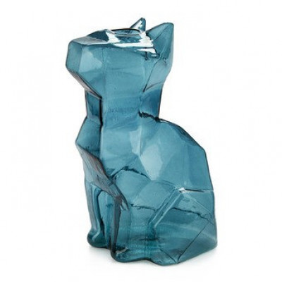 Vase Sphinx Katze 23 cm | Blau